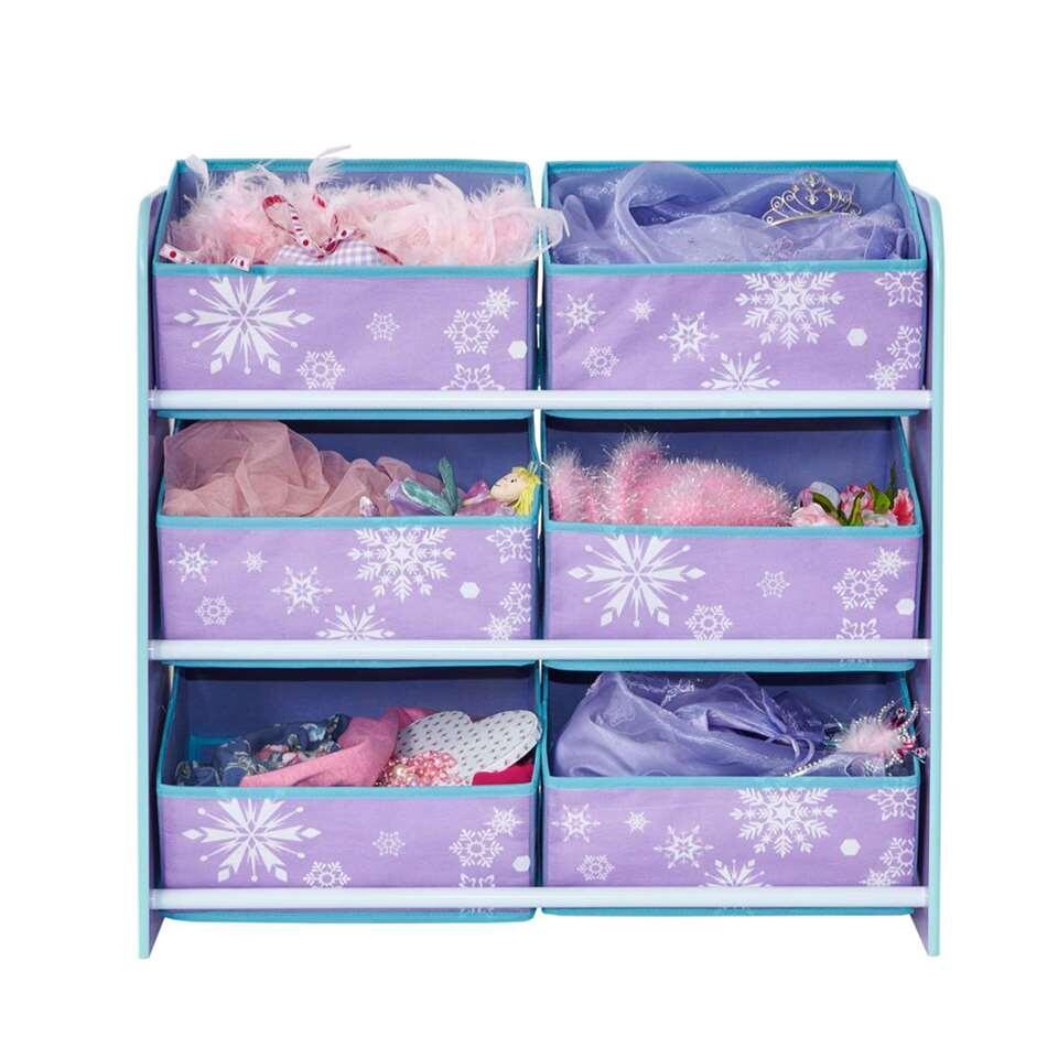 Opbergrek Frozen - paars - 60x63x30 cm - Leen Bakker