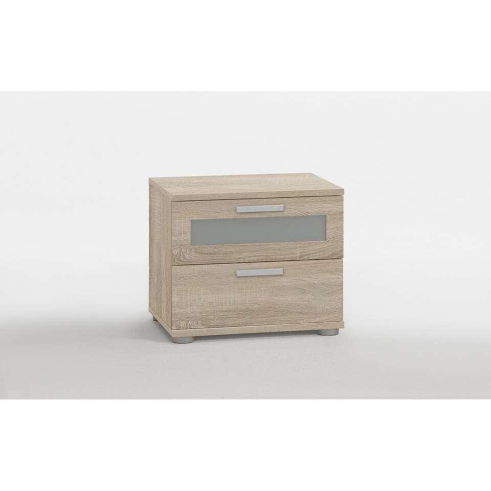 Dit praktische en elegante nachtkastje heeft 2 lades en een stijlvolle look. Zet dit kastje naast je bed.