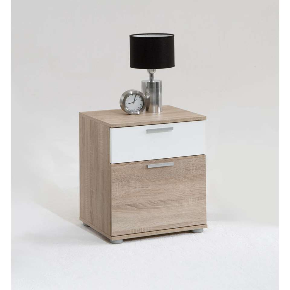 Dit praktische en elegante nachtkastje heeft 2 lades en een stijlvolle look. Zet dit kasje naast je bed.
