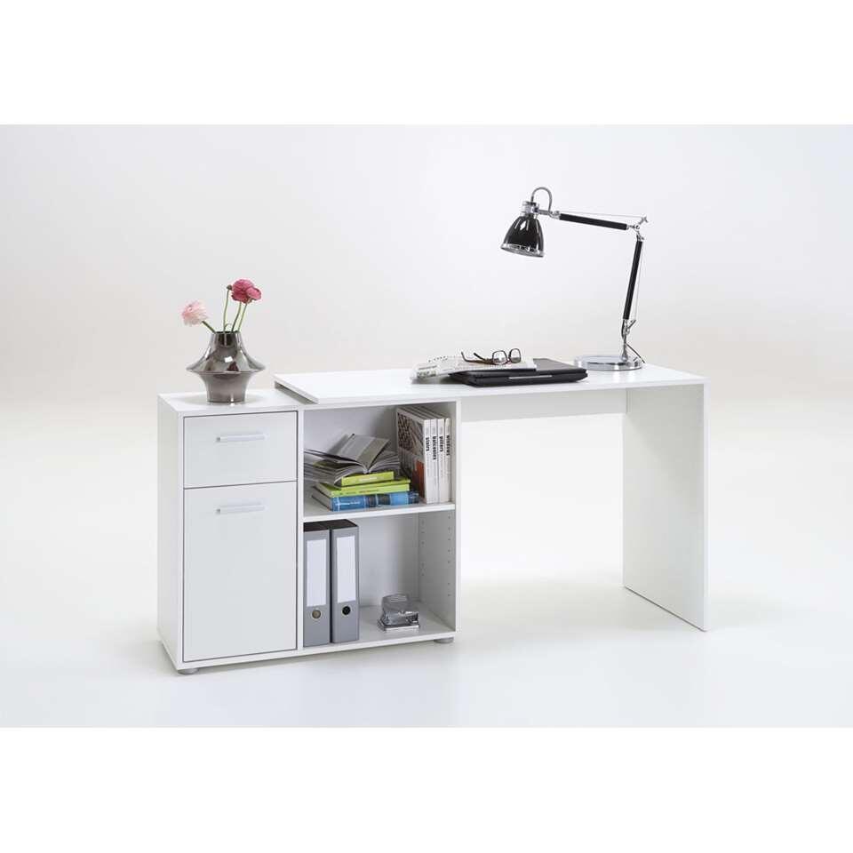 Bureau Hoek Wit.Hoekbureau Albrecht Wit 83x117x74 Cm