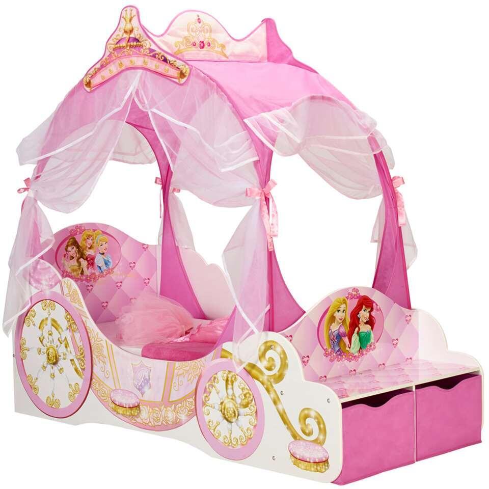 Koetsbed Disney Princess - roze - 157x85x171 cm - Leen Bakker