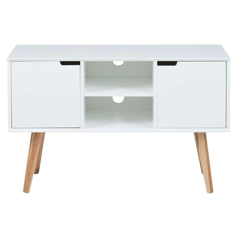 TV-meubel Lagoa - wit - 62,5x96x38 cm - Leen Bakker