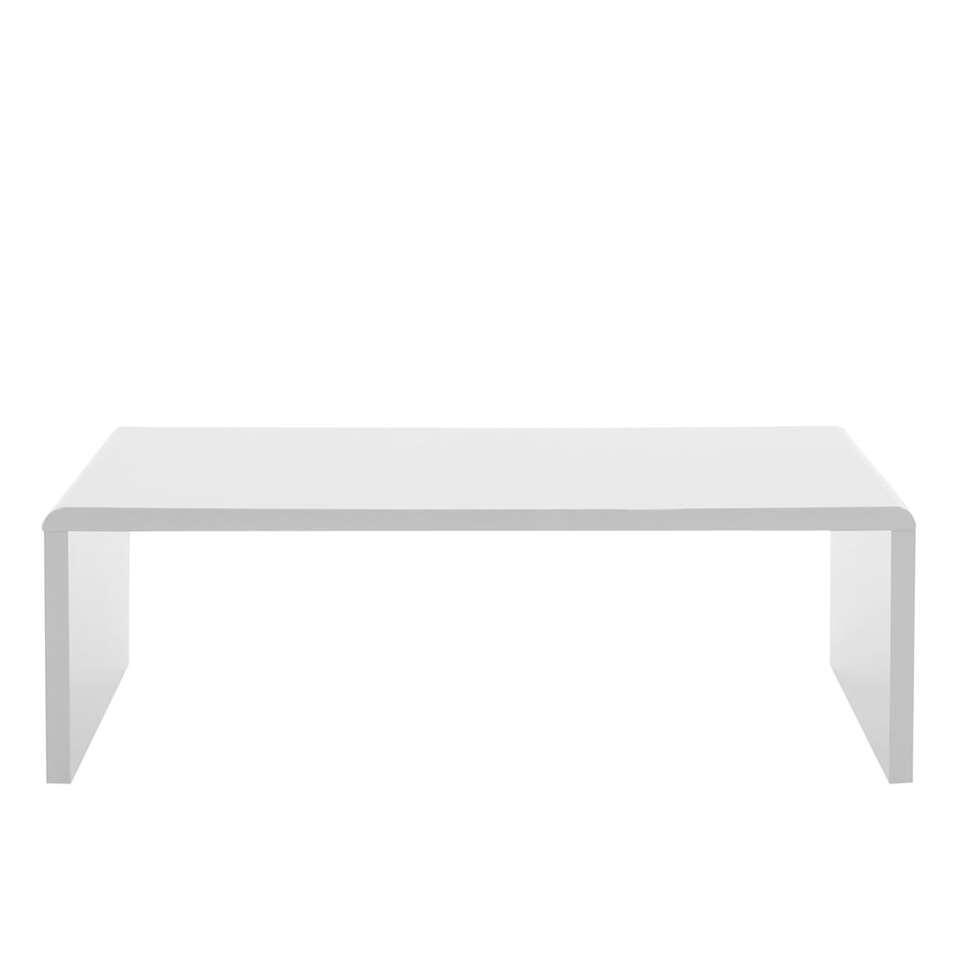 Salontafel Soito - hoogglans wit - 40,5x120x60 cm - Leen Bakker