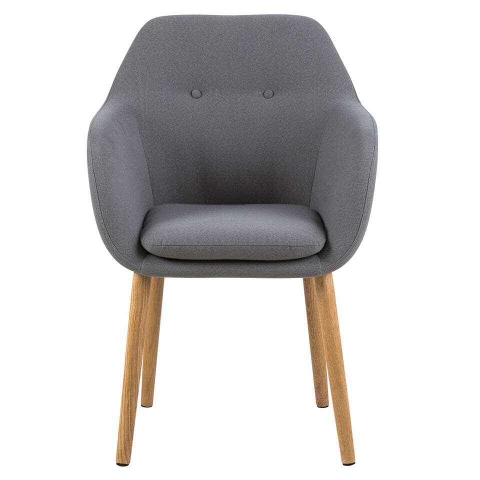 Chaise Meda - tissu - gris clair (une pièce)