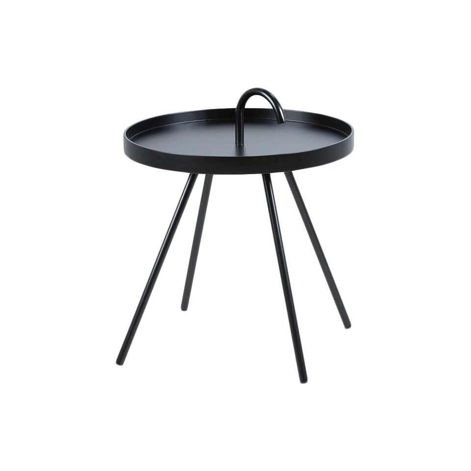 Bijzettafel Borba - zwart - Ø51x62 - Leen Bakker