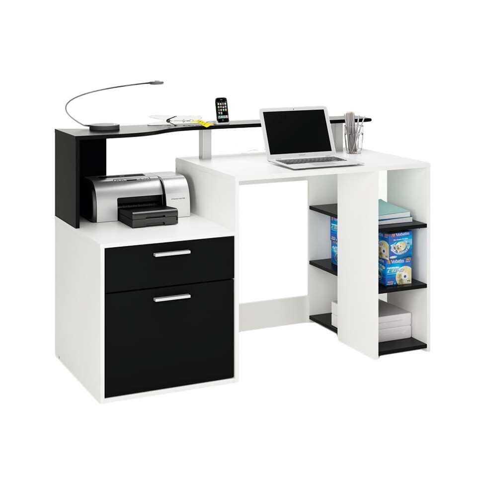 Demeyere bureau Oracle - wit/zwart - 55 - Leen Bakker