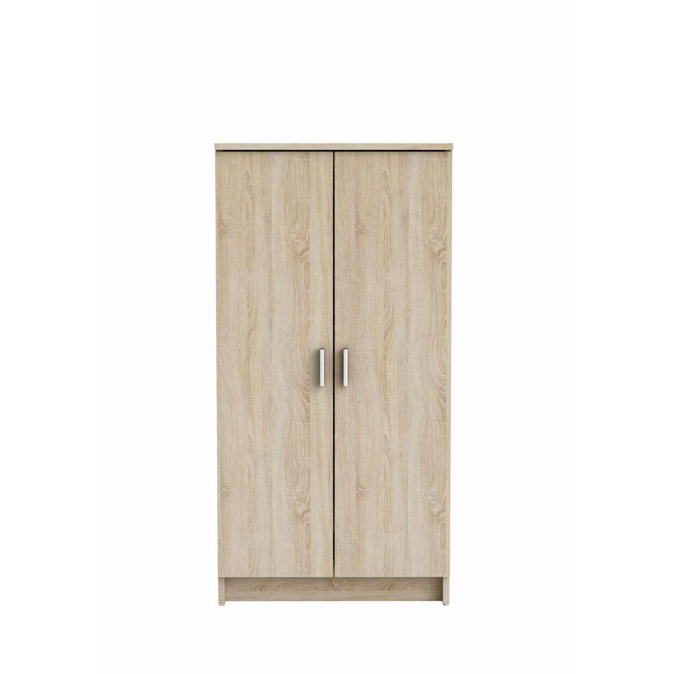 Demeyere schoenenkast Cabinet - wit/eikenkleur - Leen Bakker