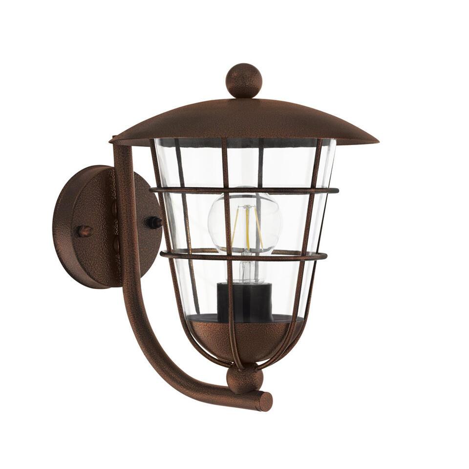 EGLO wandlamp Pulfero opwaarts - bruin