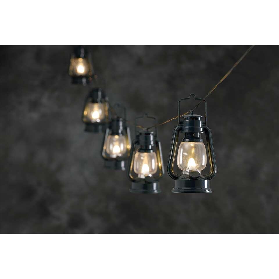 Konstsmide lichtsnoer - 8 lantaarns - warm wit - Leen Bakker