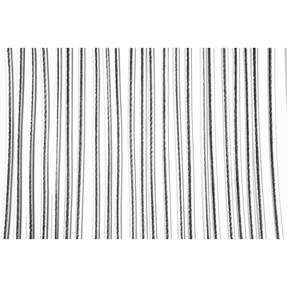 2LIF deurgordijn Malta - zwart - 93x230 cm - Leen Bakker