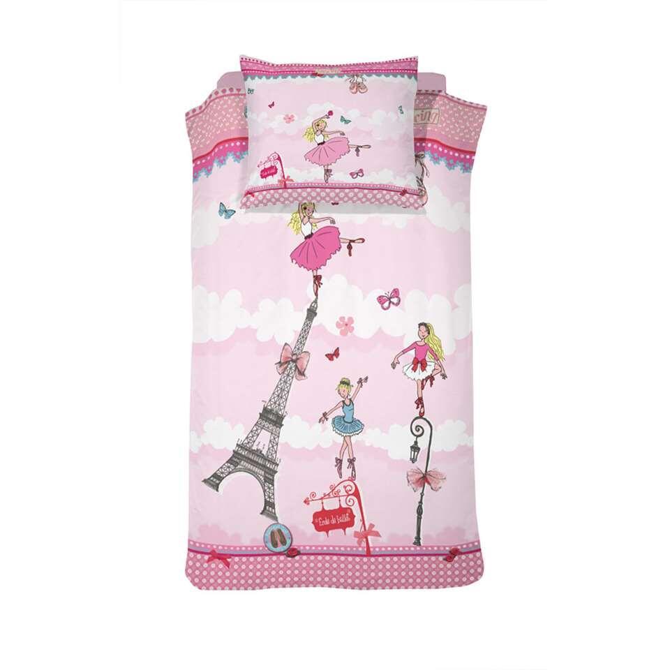 Cinderella kinderdekbedovertrek Ballerina Girl - pink - 140x200 cm - Leen Bakker