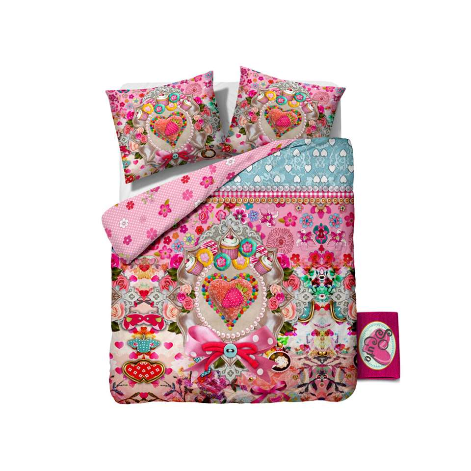 Dekbedovertrek So Cute Strawberry - multikleur - 240x220 cm