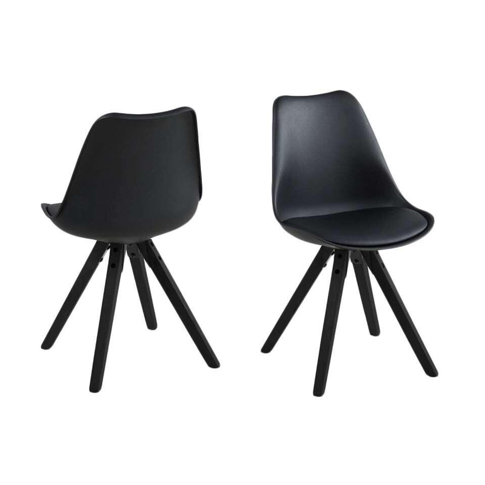 Eetkamerstoel verdal kunststof zwart 2 stuks for Eetkamer stoel
