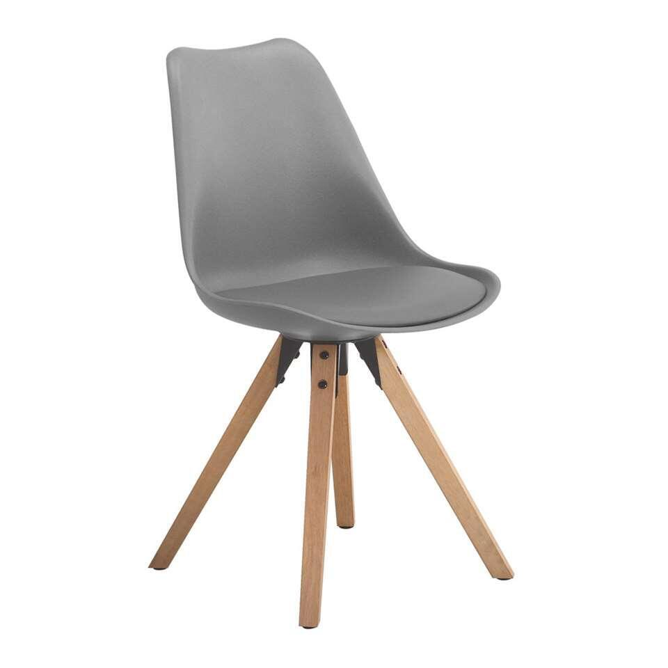 Eetkamerstoel verdal kunststof grijs 2 stuks for Eetkamer stoel
