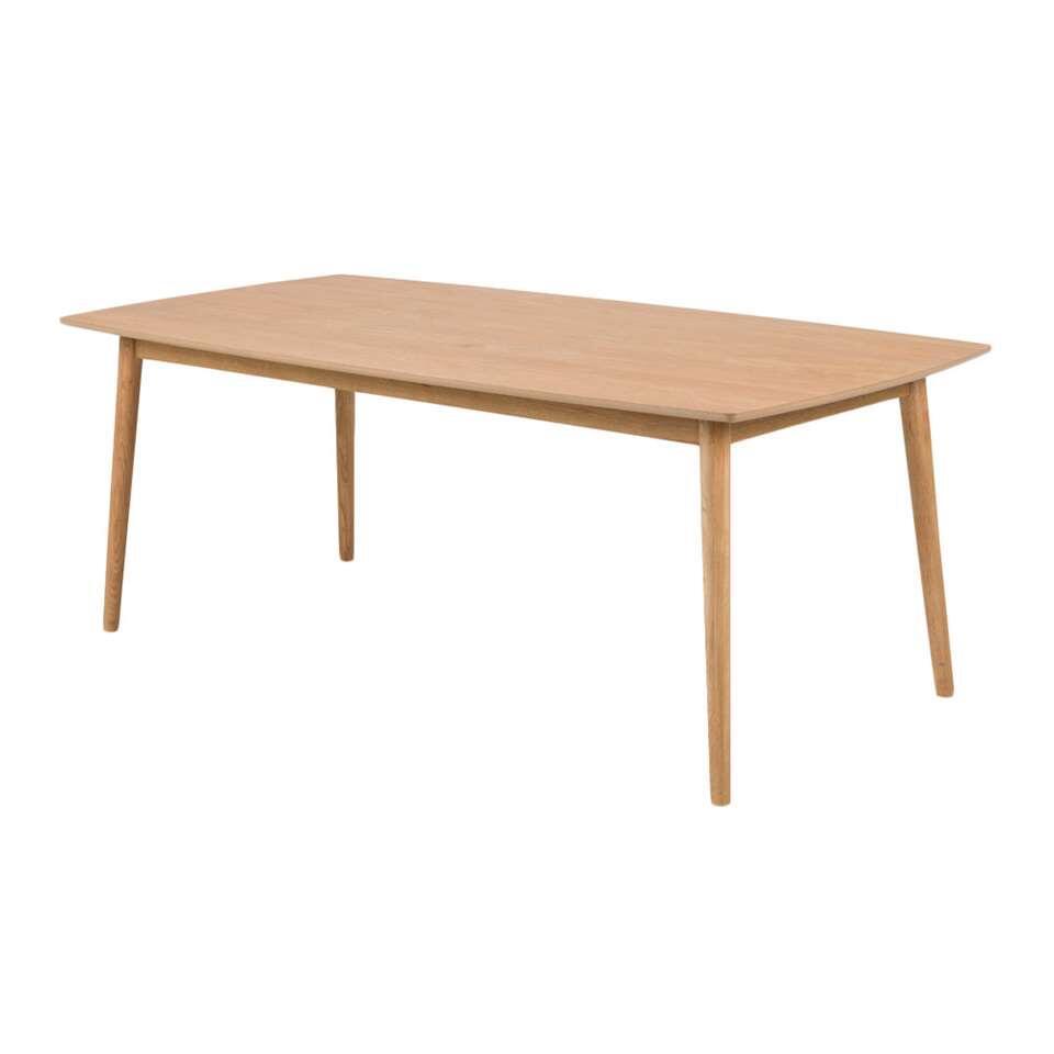Eetkamertafel Ulfborg - eikenkleur - 90x180x75,5 cm - Leen Bakker