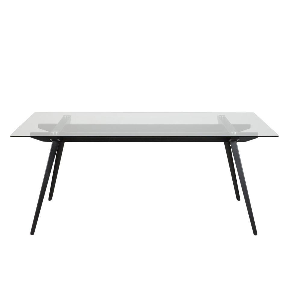 Eetkamertafel Billum – transparant – 90x180x75 cm – Leen Bakker