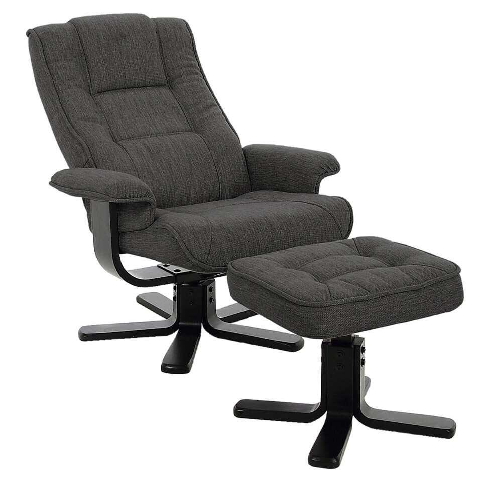 Relaxfauteuil Arboga - stof - antraciet