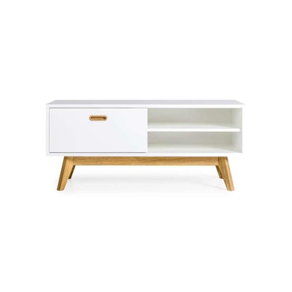 Tenzo TV-meubel Bess - wit/eiken - 50x114x43 cm - Leen Bakker