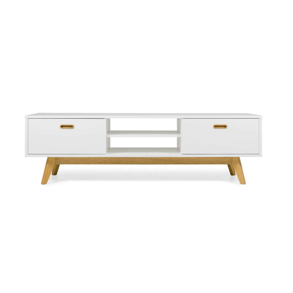 Tenzo TV-meubel Bess - wit/eiken - 50x170x43 cm - Leen Bakker