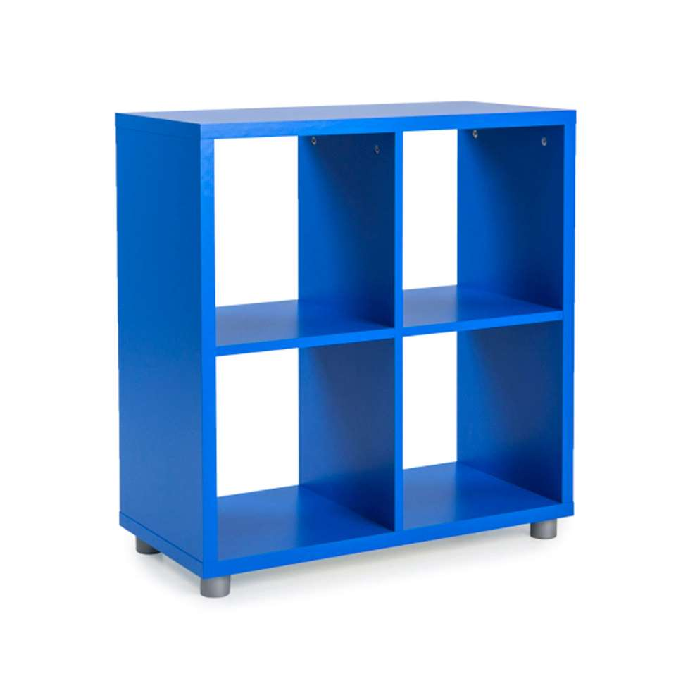 Tenzo roomdivider Box 4 vakken - blauw - 77x73x35 cm - Leen Bakker