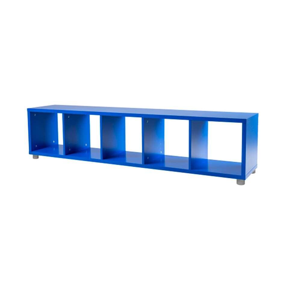 Tenzo roomdivider Box 5 vakken - blauw - 181x38x35 cm - Leen Bakker