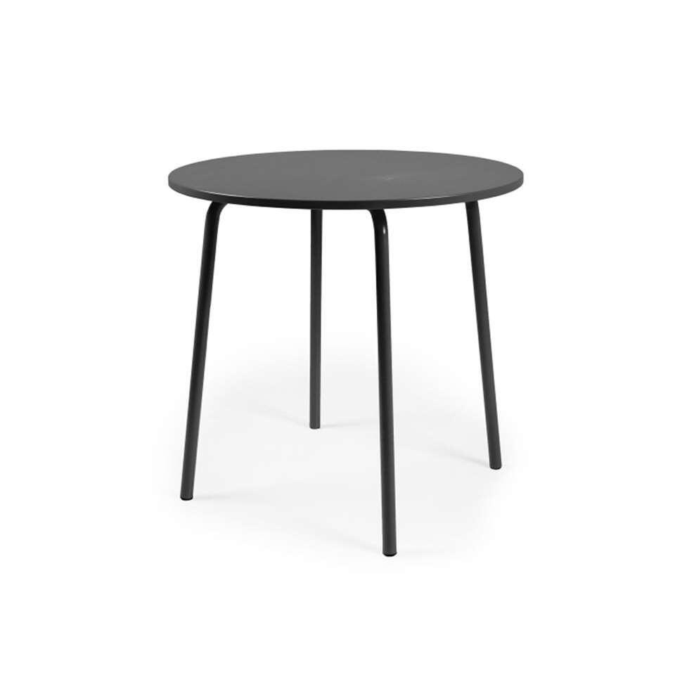 Tenzo eetkamertafel Lolly - zwart - Ø90x76 cm - Leen Bakker