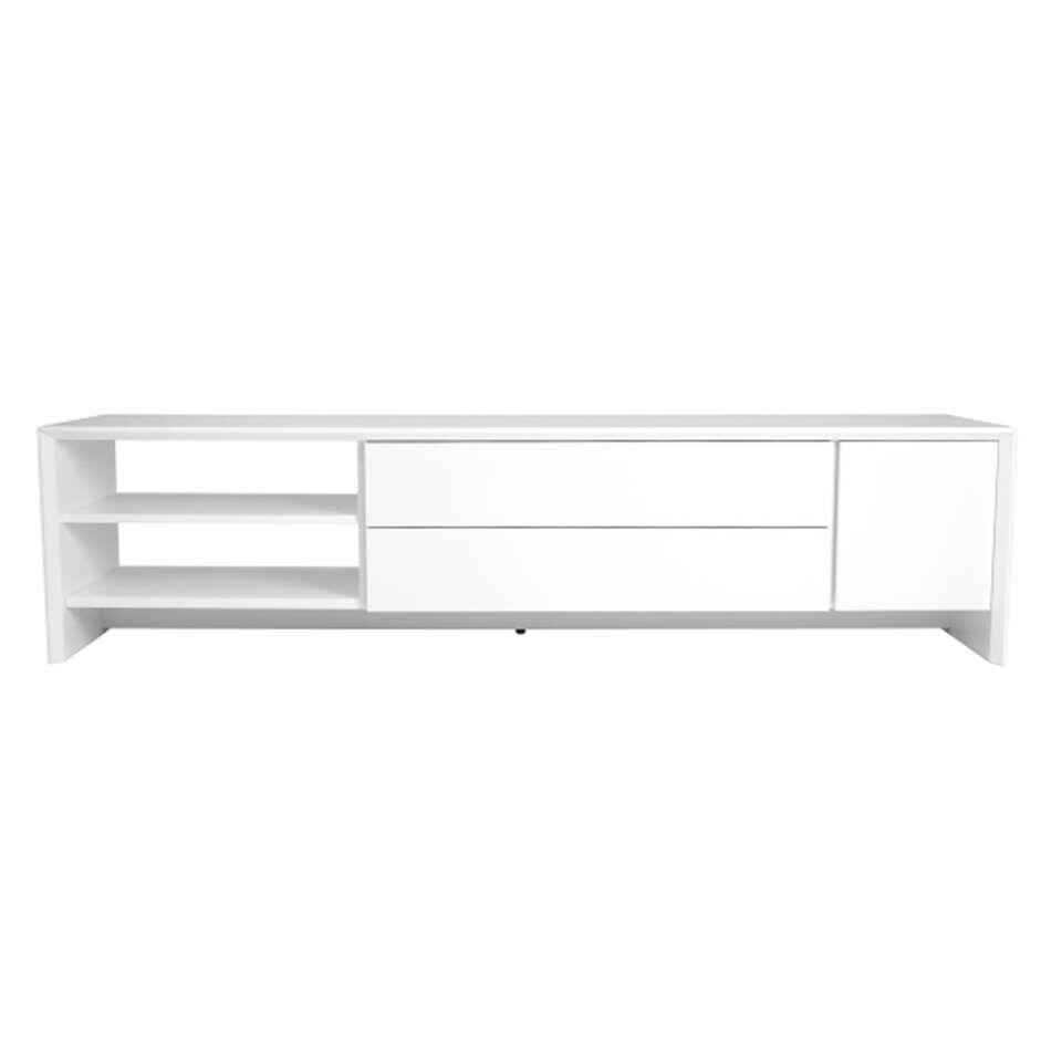 Tenzo TV-meubel Profil - wit - 44x180x47 cm - Leen Bakker