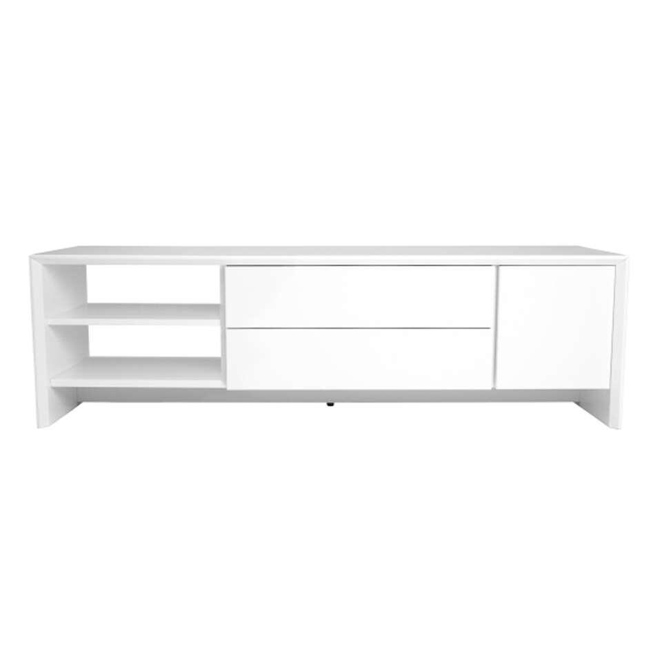 Tenzo TV-meubel Profil - wit - 44x150x47 cm - Leen Bakker
