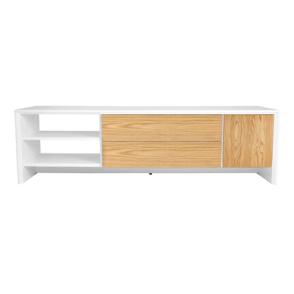 Tenzo TV-meubel Profil - wit/eiken - 44x150x47 cm - Leen Bakker