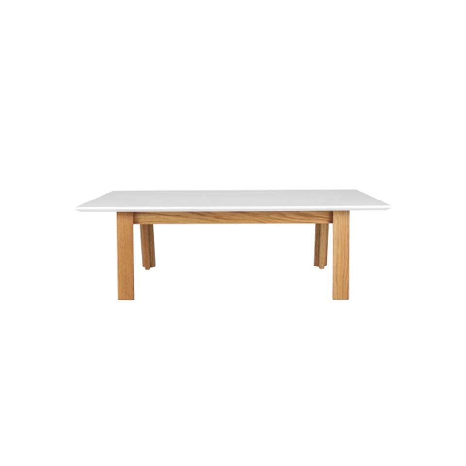 Tenzo salontafel Profil - wit/eiken - 38x120x60 cm - Leen Bakker