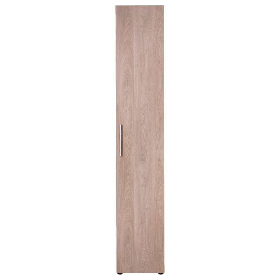 Smartbox kledingkast eiken – hang – 220x40x60 cm – Leen Bakker