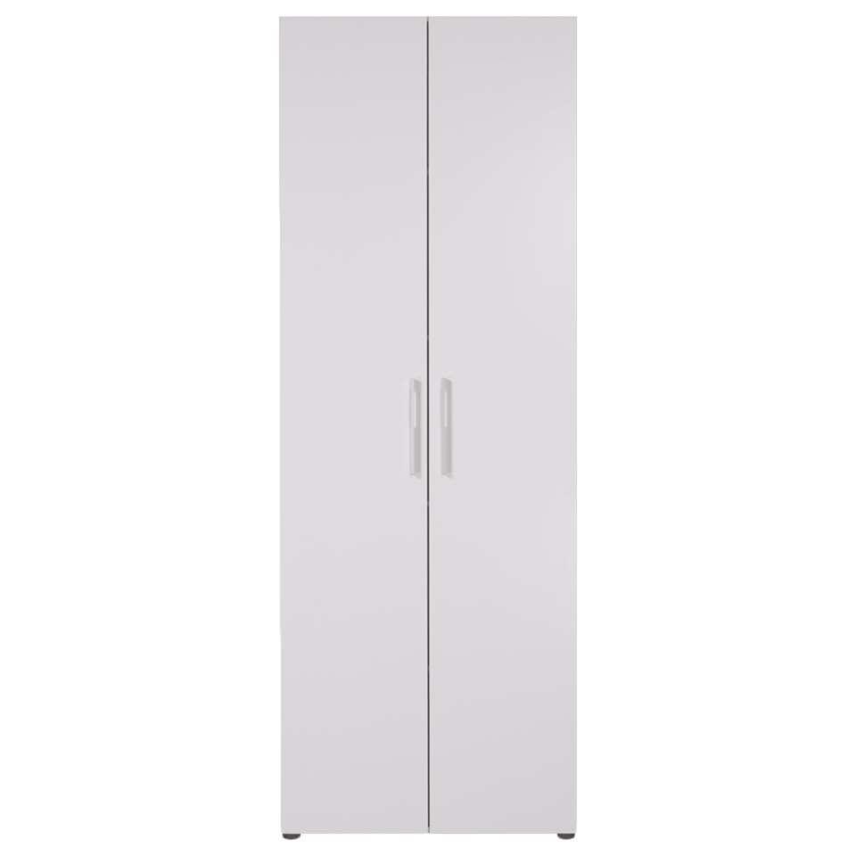 Smartbox kledingkast wit - leg - 220x80x60 cm - Leen Bakker