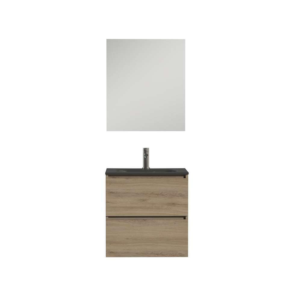 Tiger badkamermeubel Loft - chalet eik/zwart - 60 cm - Leen Bakker