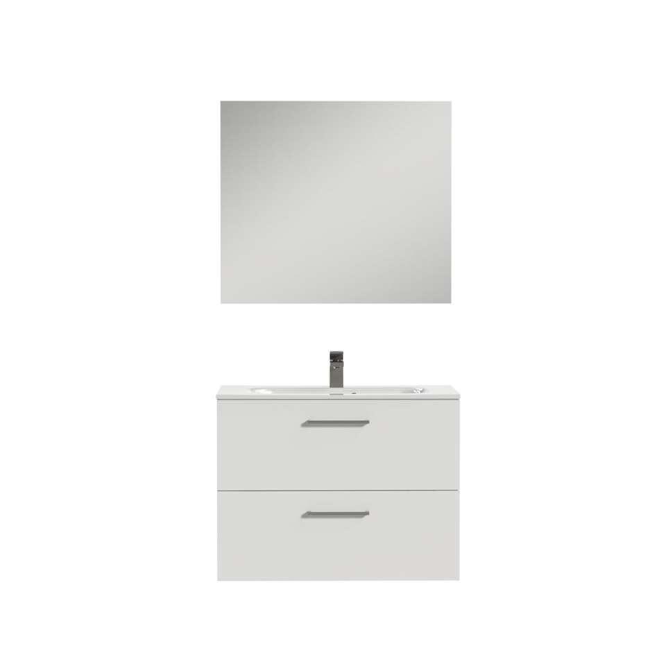 Tiger badkamermeubel Studio - hoogglans wit - 80 cm - Leen Bakker