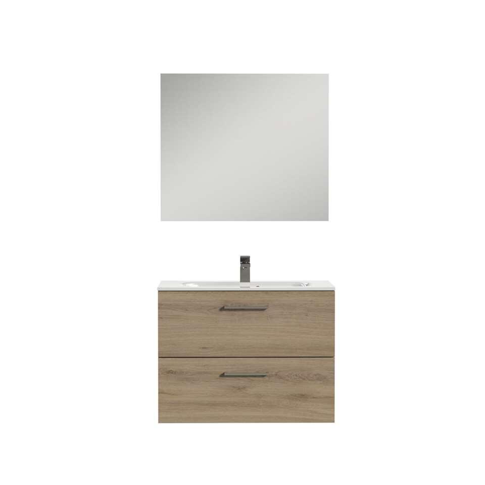 Tiger badkamermeubel Studio - chalet eik/wit - 80 cm - Leen Bakker