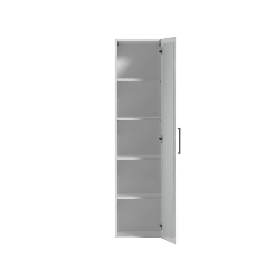 Tiger hoge kolomkast met interne spiegel Studio - hoogglans wit - 40 cm - Leen Bakker