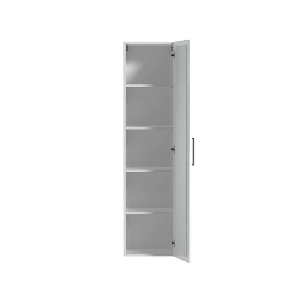 81006106 hoge kolomkast met interne spiegel Studio  hoogglans wit  40 cm