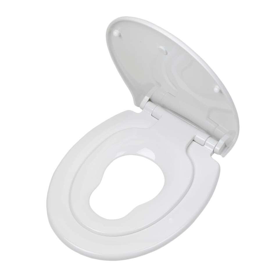 Tiger toiletzitting Tulsa - thermoplast - wit - 5x37,1x45 cm - Leen Bakker