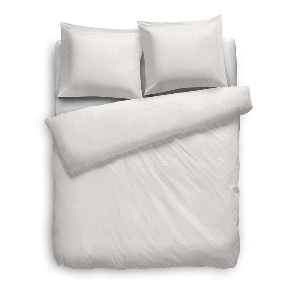 Heckett & Lane dekbedovertrek Puntini - off-white - 260x220 cm - Leen Bakker