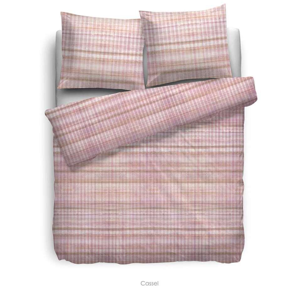 Heckett & Lane dekbedovertrek Cassel - roze - 240x220 cm - Leen Bakker