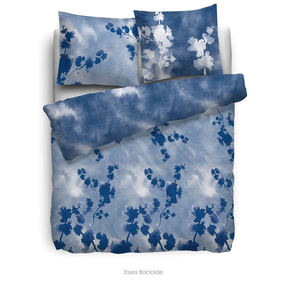 Heckett & Lane dekbedovertrek Essex - blauw - 240x220 cm - Leen Bakker
