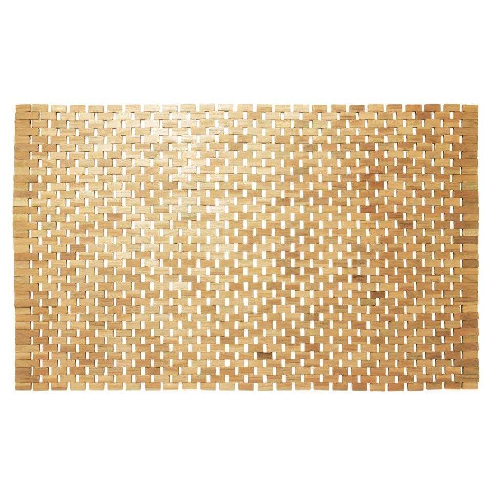 Sealskin badmat Woodblock – bruin – 52×90 cm – Leen Bakker