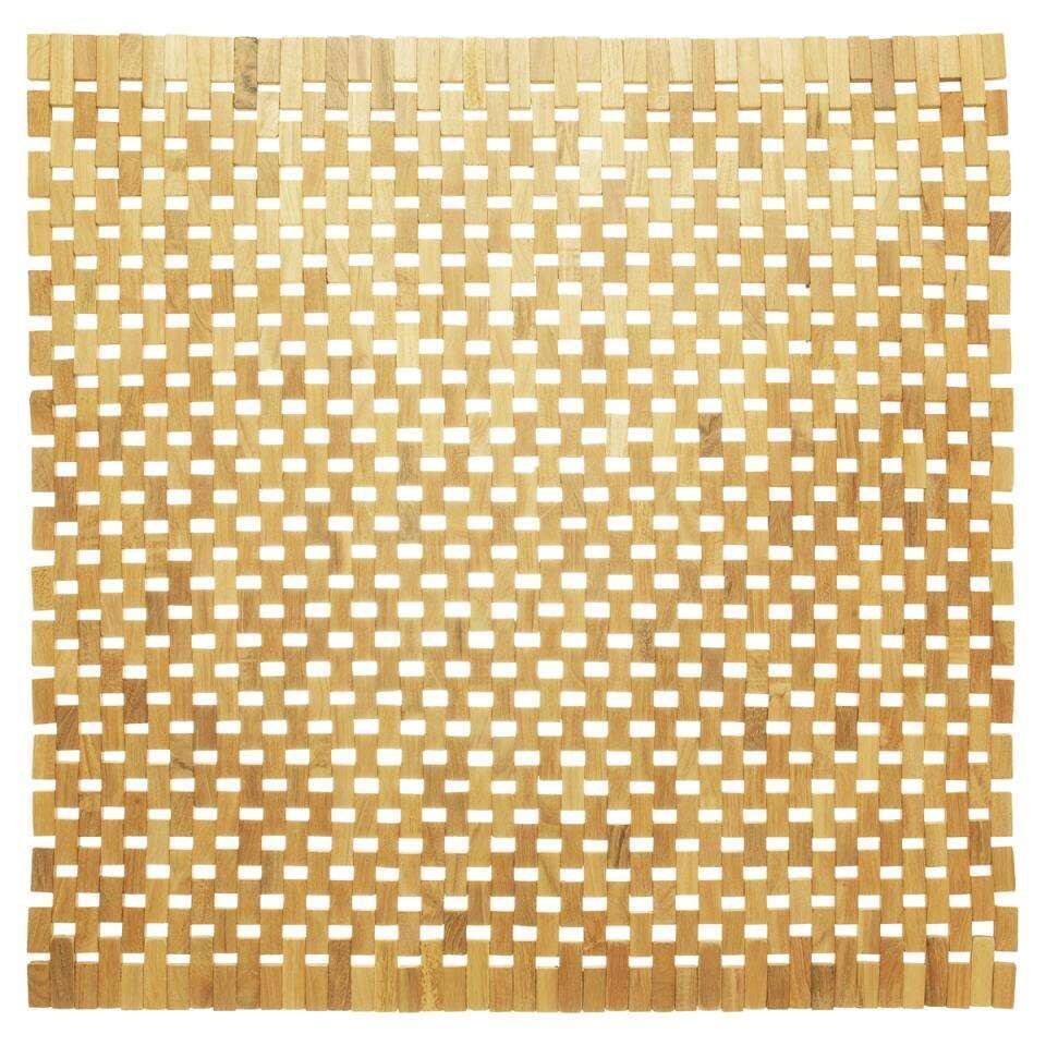 Sealskin badmat Woodblock – bruin – 60×60 cm – Leen Bakker