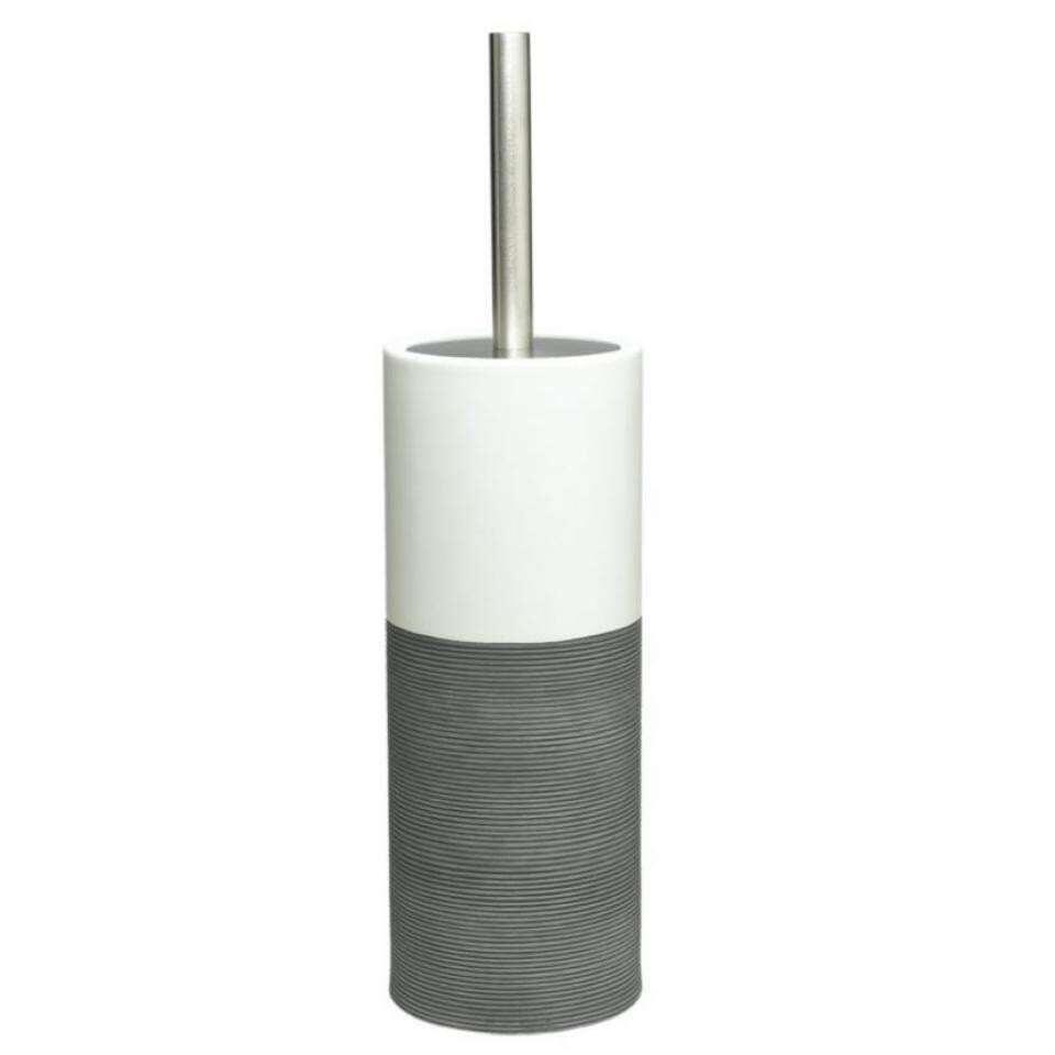 Sealskin toiletborstelgarnituur Doppio - grijs - 38,3x10,1x10,1 cm