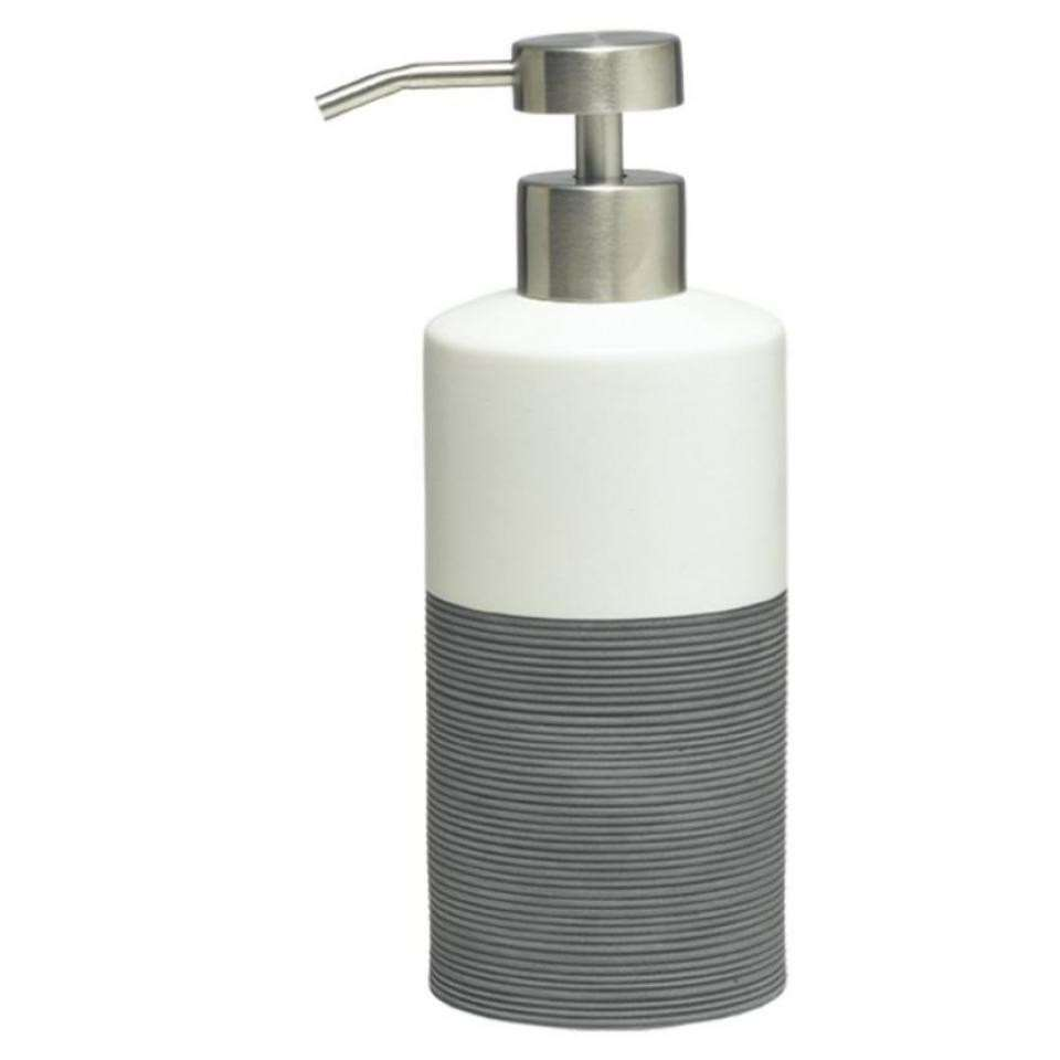 Sealskin zeepdispenser Doppio - grijs - 18x8,5x6,7 cm