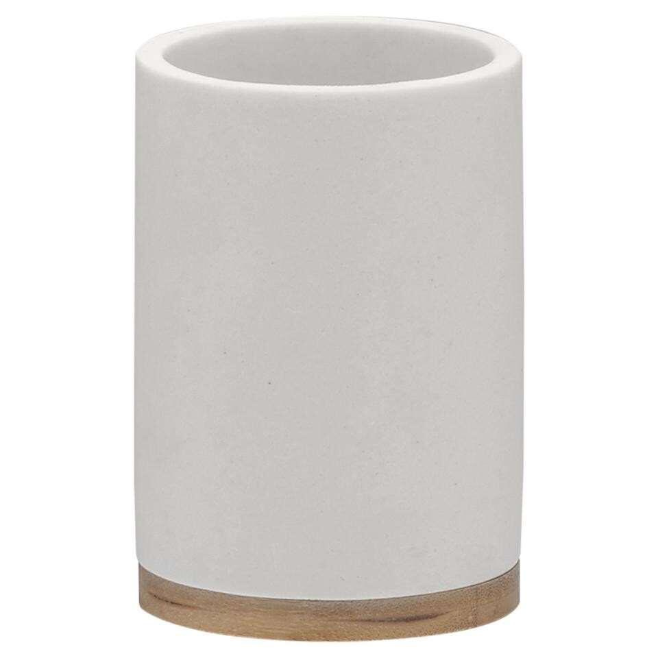 Sealskin beker Grace - wit - 10,6x7,3x7,3 cm - Leen Bakker
