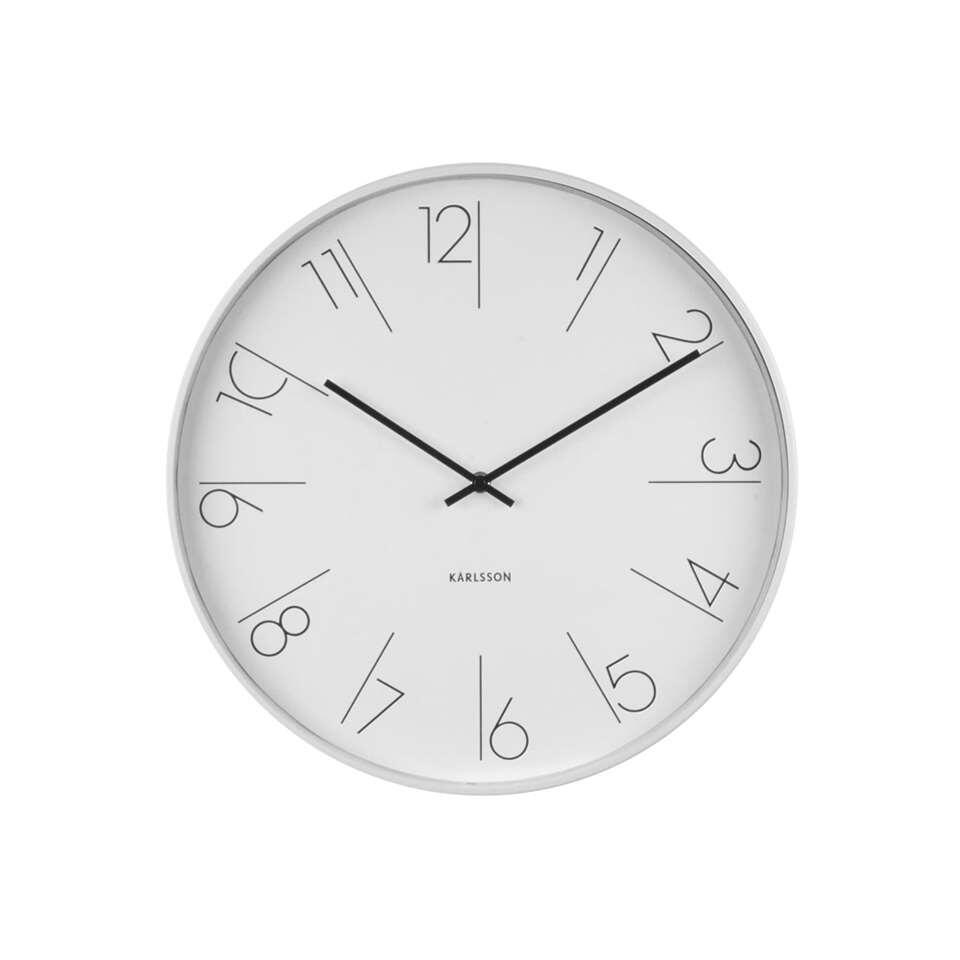 Karlsson wandklok Elegant – wit – 40x40x6 cm – Leen Bakker
