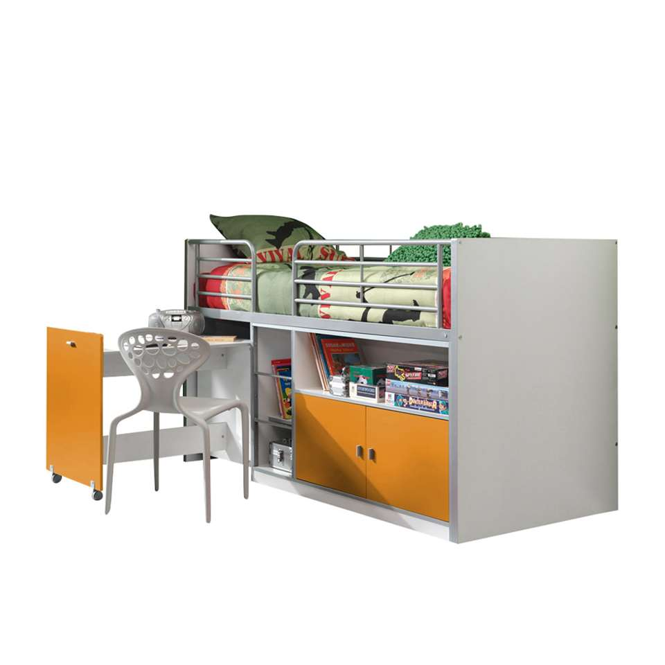 Vipack halfhoogslaper Bonny - oranje - 121x96x207 cm - Leen Bakker