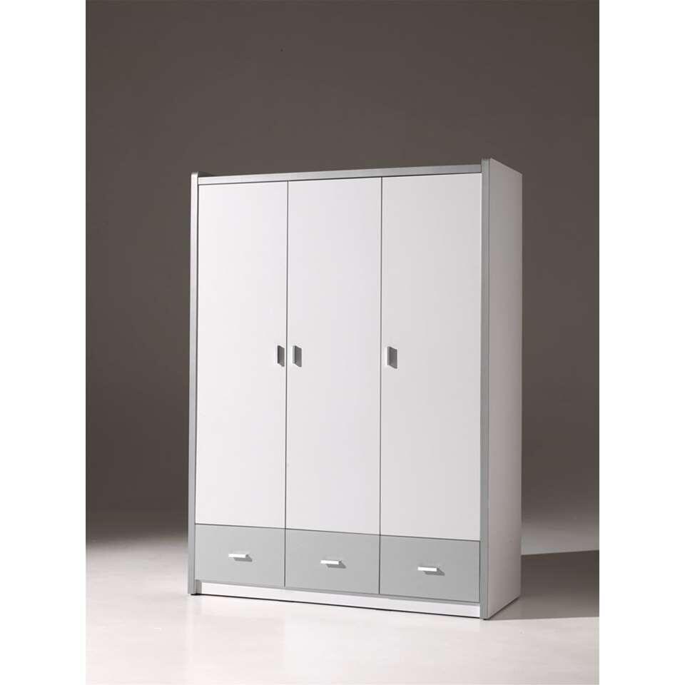 Vipack kinderkledingkast Bonny 3-deurs zilver