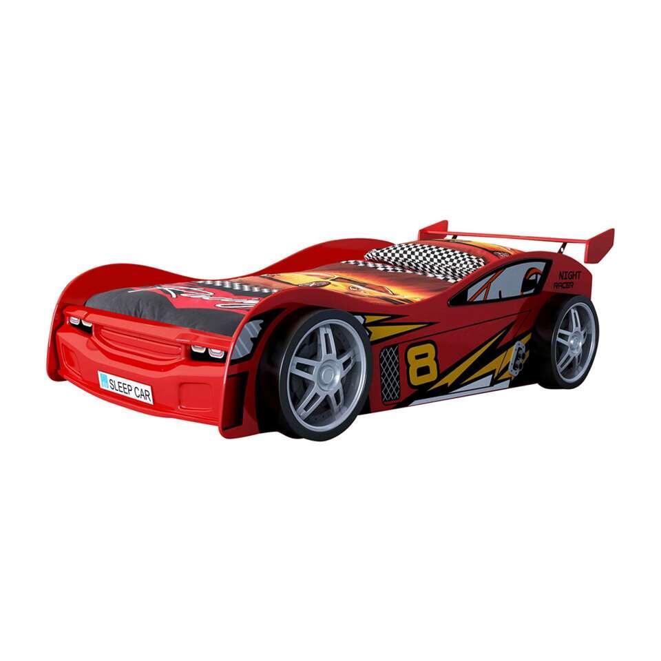 Vipack autobed Night Racer - rood - 68,5x111x241,5 cm - Leen Bakker